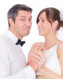 幽默婚礼 免版税图库摄影