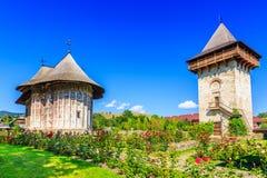 幽默修道院,罗马尼亚 免版税图库摄影