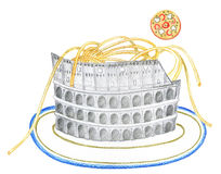 幽默意大利人食物 免版税库存图片
