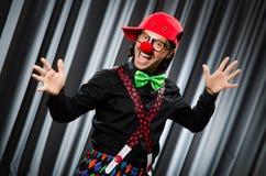 幽默概念的滑稽的小丑 免版税库存图片