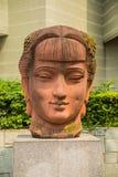 广东在蓝天下背景的美术馆  库存图片