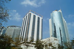 广东自由贸易区, Qianhai蛇口地区 库存照片