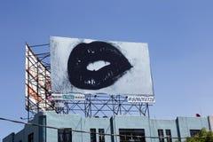 广告囤积居奇,墨西哥城 免版税库存照片