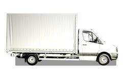 广告文件好卡车白色 库存图片