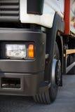 广告文件好卡车白色 免版税库存图片