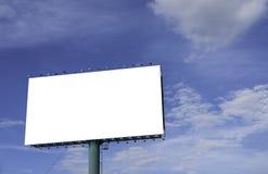 广告有蓝天的广告牌在背景中 图库摄影