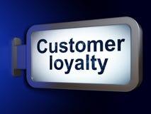 广告概念:在广告牌背景的顾客忠诚 皇族释放例证