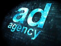 广告概念:在数字式广告代理 图库摄影