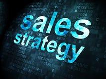 广告概念:在数字式背景的销售战略 免版税库存图片
