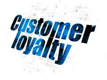 广告概念:在数字式背景的顾客忠诚 库存例证