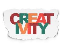 广告概念:在被撕毁的纸的创造性 库存例证