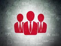 广告概念:数字式的商人 库存例证