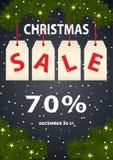 广告海报圣诞节销售 库存图片