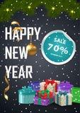 广告海报圣诞节销售 库存照片
