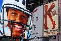 广告海报在时代广场 免版税库存图片