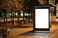 给广告牌做广告 免版税图库摄影