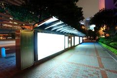 广告牌公共汽车站 图库摄影