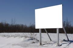广告牌冬天 图库摄影