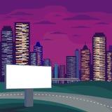 广告牌和摩天大楼 免版税库存照片