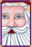 广告牌圣诞老人 库存照片