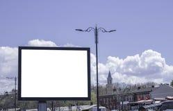 广告牌在公园和户外 库存图片