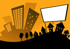 广告牌城市 免版税库存照片