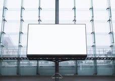 广告牌横幅广告媒介的嘲笑显示修造的外部 库存图片