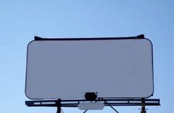 广告牌白色 库存照片