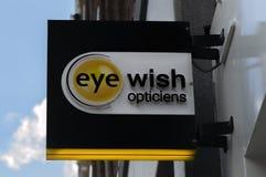 广告牌眼睛愿望在阿姆斯特丹荷兰2019年 库存图片