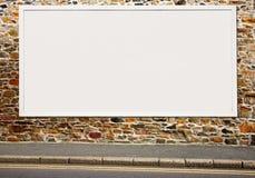 广告牌空白大白色 库存图片