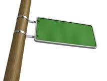 广告牌空白绿色路标白色 库存图片