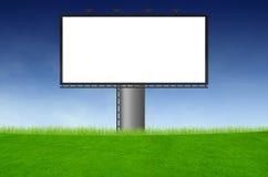 广告牌空白领域绿色 免版税图库摄影
