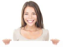 广告牌符号妇女 免版税库存图片