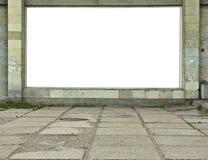 广告牌被挂接的墙壁 库存照片