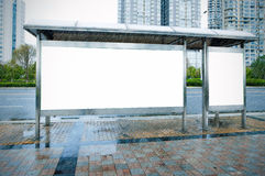 广告牌路旁 免版税图库摄影