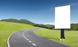 广告牌路 免版税库存图片