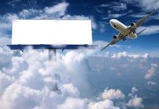 广告牌飞机 免版税图库摄影