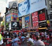 广告牌broadway市纽约 免版税图库摄影