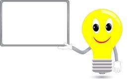 广告电灯泡服务台 库存图片