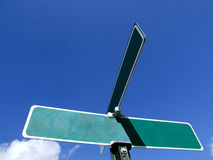 广告空白符号街道 免版税图库摄影