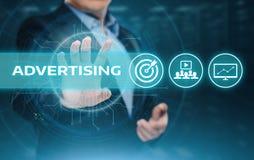 广告销售计划烙记的企业技术概念 免版税库存照片