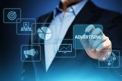 广告销售计划烙记的企业技术概念 免版税库存图片