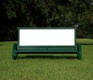 广告长凳 库存照片