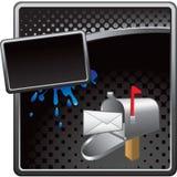 广告黑色获得了半音图标邮件ve您 免版税库存图片