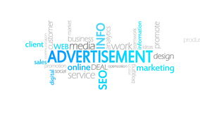 广告,生气蓬勃的印刷术 库存例证
