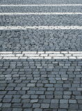 广场与的石头块水平的空白线路 图库摄影