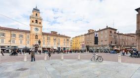 广场加里波第在帕尔马市 库存图片