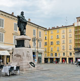 广场加里波第 从183 BC帕尔马是罗马殖民地和广场 免版税库存图片