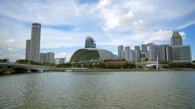 广场和小游艇船坞海湾,新加坡 库存照片