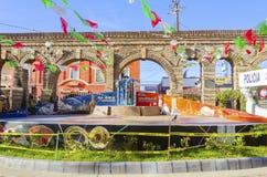 广场圣塔切奇利娅,提华纳,墨西哥 免版税库存图片